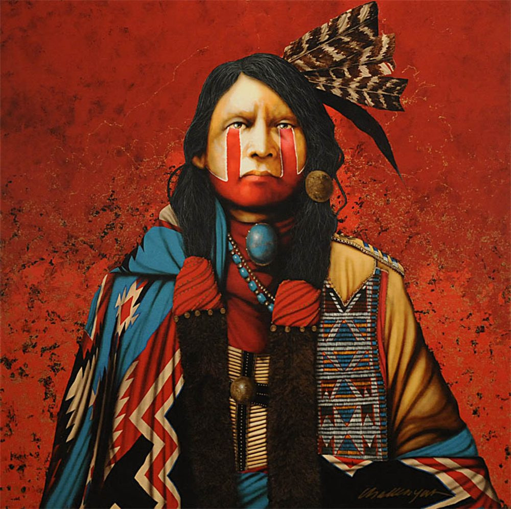 Red Wolf Spirit | Jd Challenger | Painting-Exposures International Gallery of Fine Art - Sedona AZ