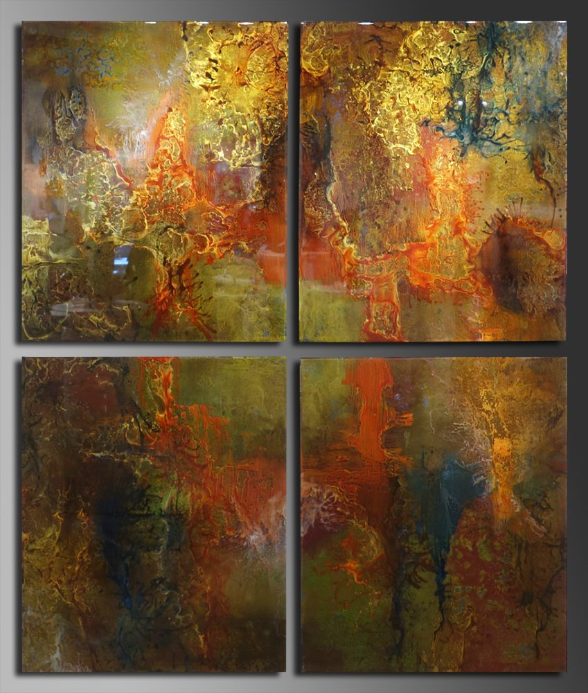 Rich Earth Quadriptych | Eric Lee | Painting-Exposures International Gallery of Fine Art - Sedona AZ