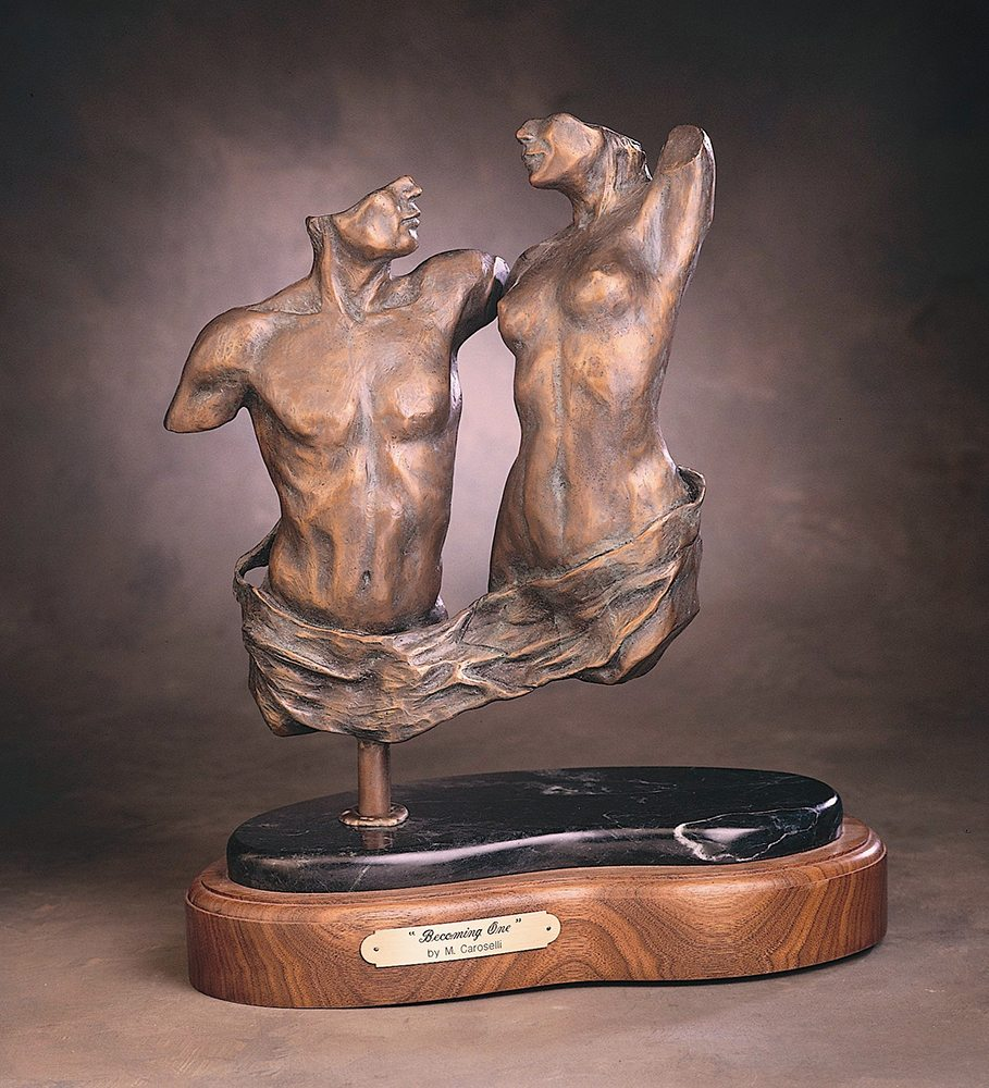Becoming One   Marianne Caroselli   Sculpture-Exposures International Gallery of Fine Art - Sedona AZ