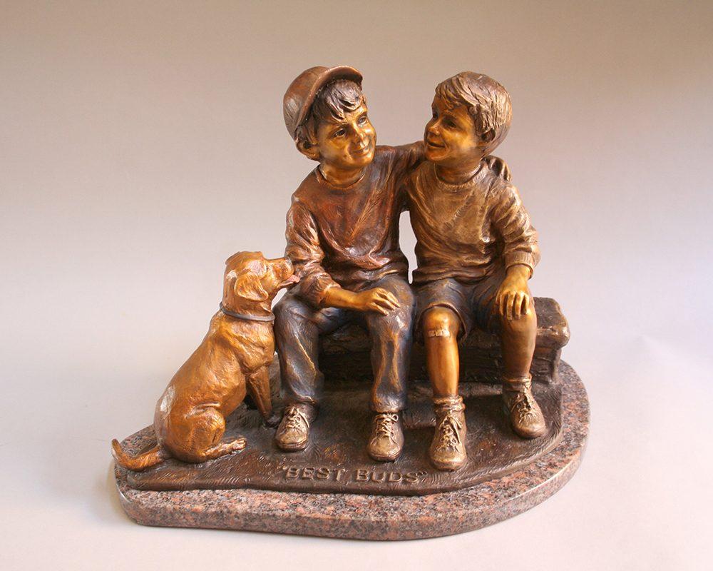 Best Buds | Marianne Caroselli | Sculpture-Exposures International Gallery of Fine Art - Sedona AZ