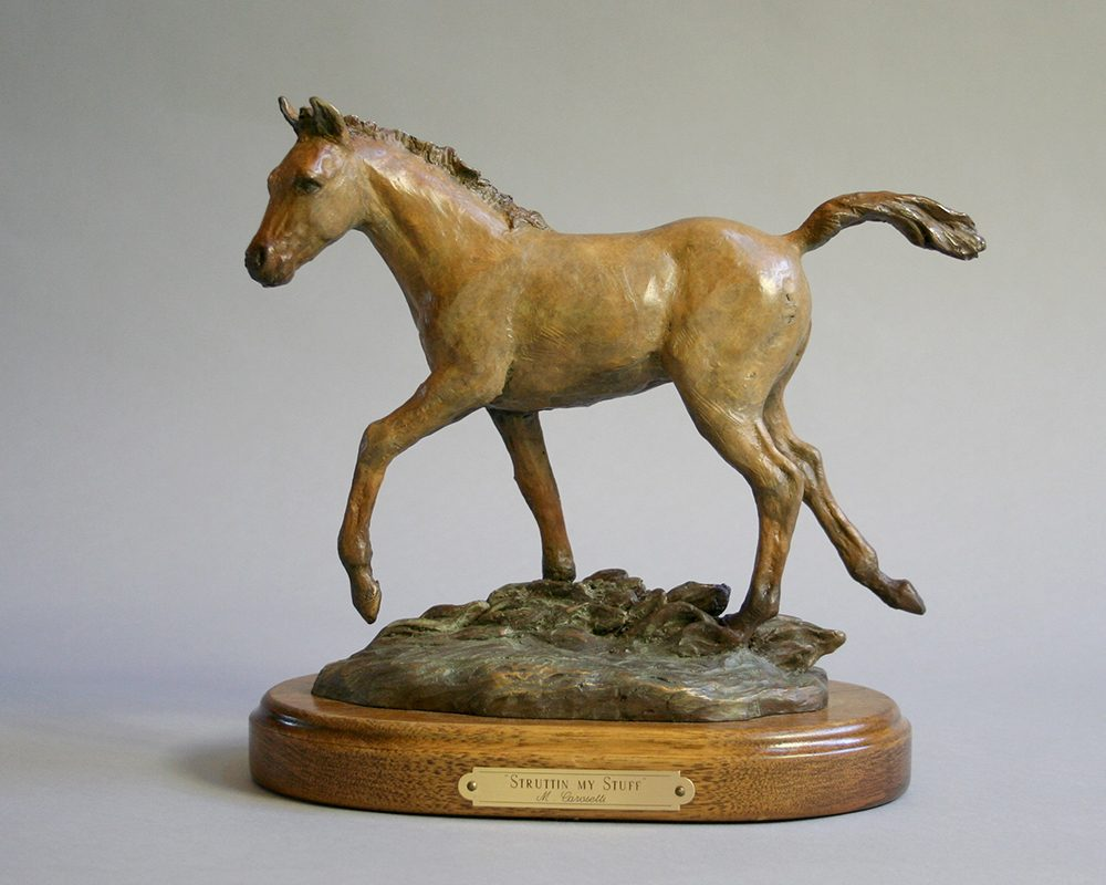 Struttin My Stuff | Marianne Caroselli | Sculpture-Exposures International Gallery of Fine Art - Sedona AZ