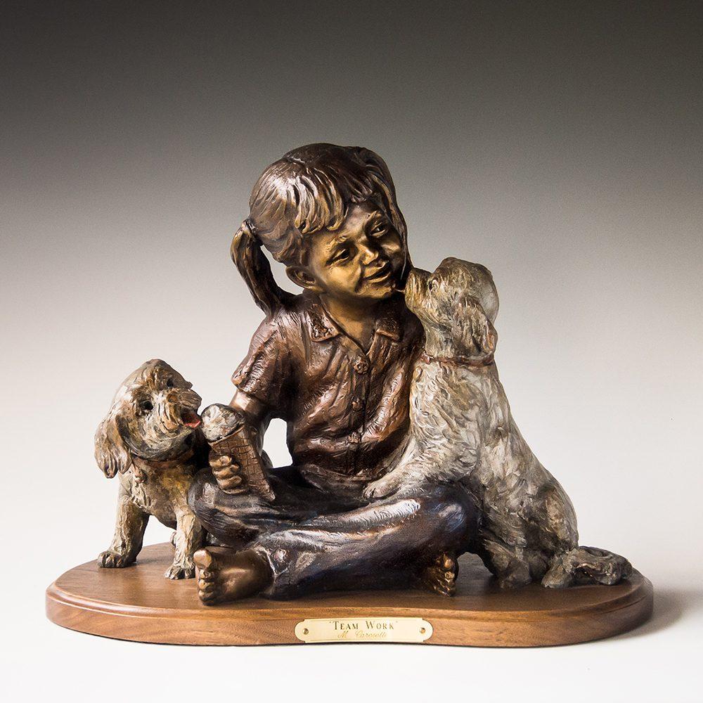 Team Work | Marianne Caroselli | Sculpture-Exposures International Gallery of Fine Art - Sedona AZ