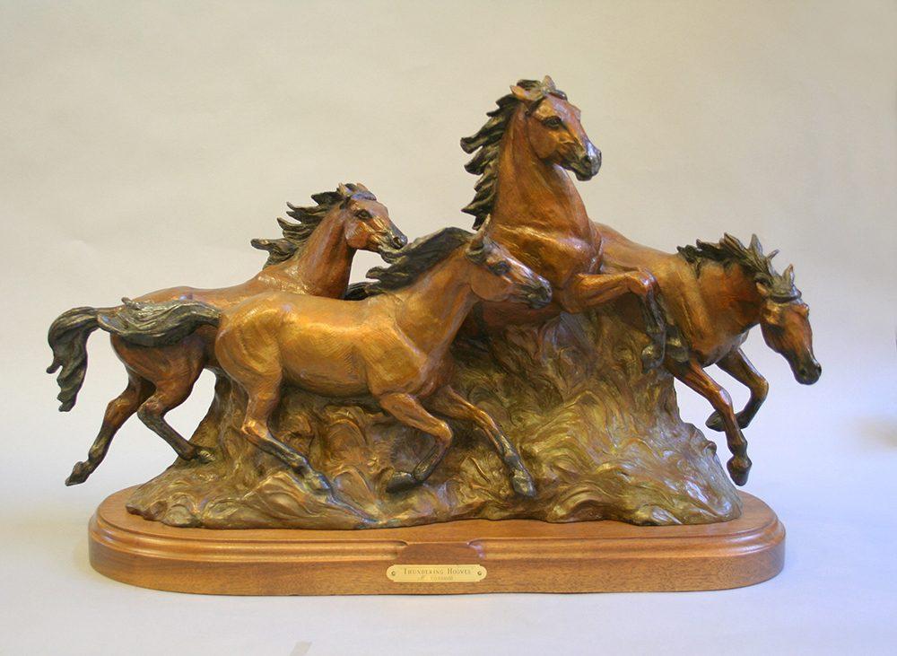 Thundering Hooves   Marianne Caroselli   Sculpture-Exposures International Gallery of Fine Art - Sedona AZ