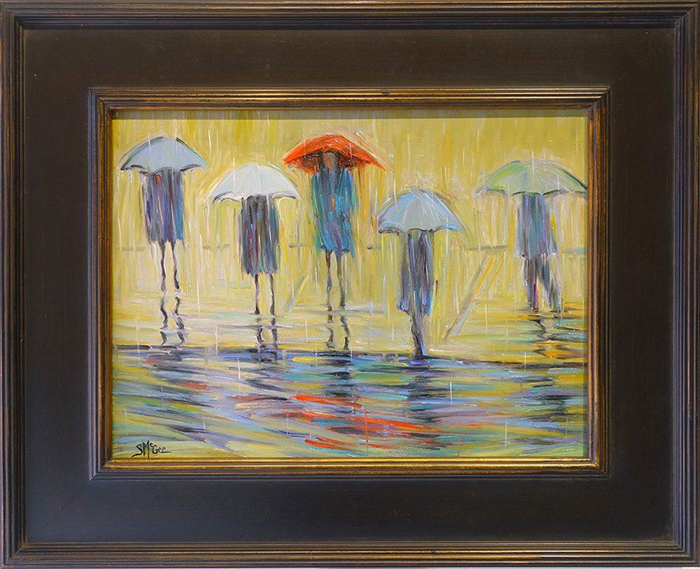 Bus Stop #6 | September McGee | Painting-Exposures International Gallery of Fine Art - Sedona AZ