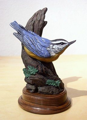 Nuthatch | Eugene Morelli | Sculpture-Exposures International Gallery of Fine Art - Sedona AZ