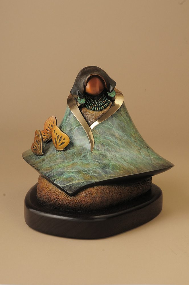 Chases Butterflies | Kim Obrzut | Sculpture-Exposures International Gallery of Fine Art - Sedona AZ