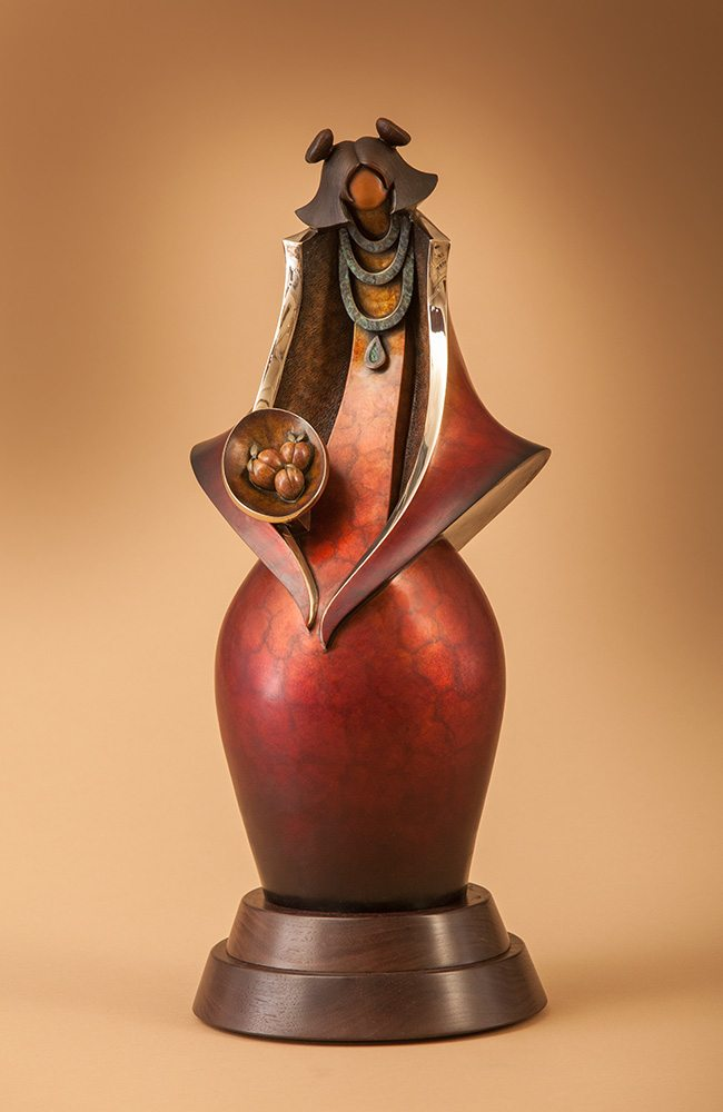 Peaches | Kim Obrzut | Sculpture-Exposures International Gallery of Fine Art - Sedona AZ