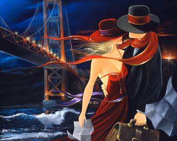 Bridge Over Troubled Water | Victor Ostrovsky | Painting-Exposures International Gallery of Fine Art - Sedona AZ