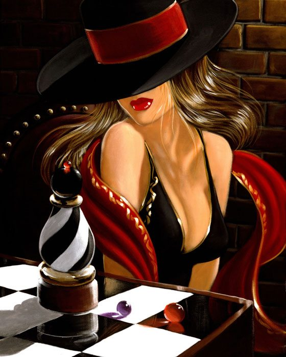 Chess Piece | Victor Ostrovsky | Painting-Exposures International Gallery of Fine Art - Sedona AZ