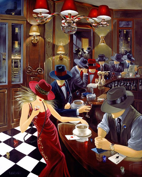 Distraction II | Victor Ostrovsky | Painting-Exposures International Gallery of Fine Art - Sedona AZ