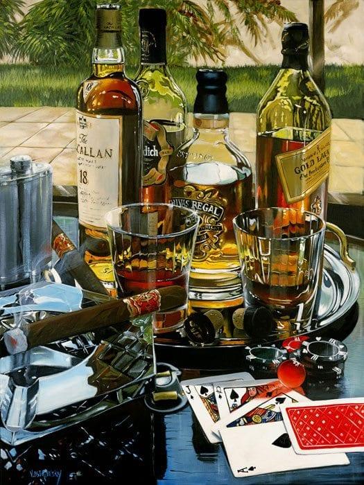 Five Card Stud | Victor Ostrovsky | Painting-Exposures International Gallery of Fine Art - Sedona AZ