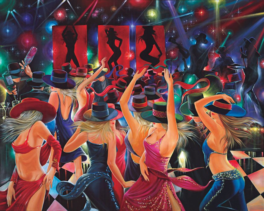 Night Out | Victor Ostrovsky | Painting-Exposures International Gallery of Fine Art - Sedona AZ