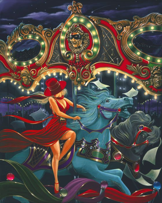 Paper Carousel | Victor Ostrovsky | Painting-Exposures International Gallery of Fine Art - Sedona AZ