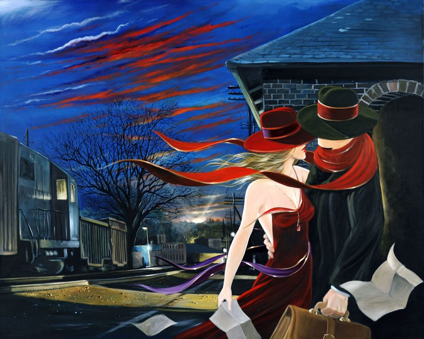 Rendezvous At Dawn | Victor Ostrovsky | Painting-Exposures International Gallery of Fine Art - Sedona AZ