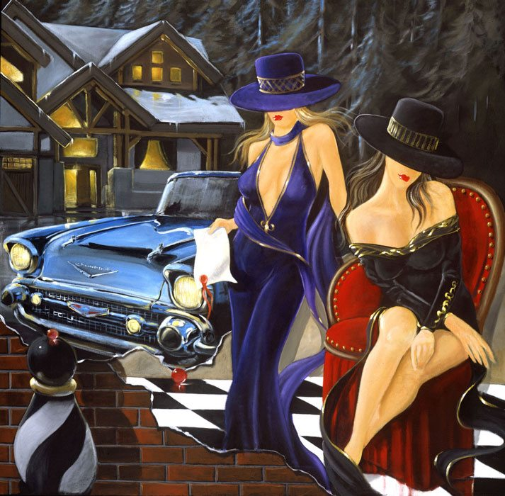 Seated   Victor Ostrovsky   Painting-Exposures International Gallery of Fine Art - Sedona AZ