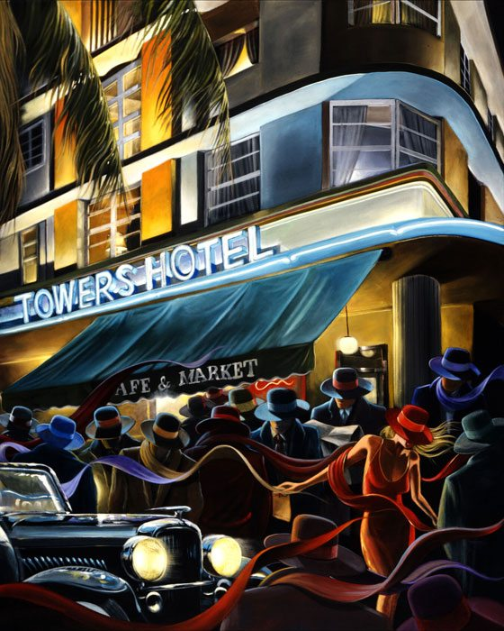South Beach | Victor Ostrovsky | Painting-Exposures International Gallery of Fine Art - Sedona AZ
