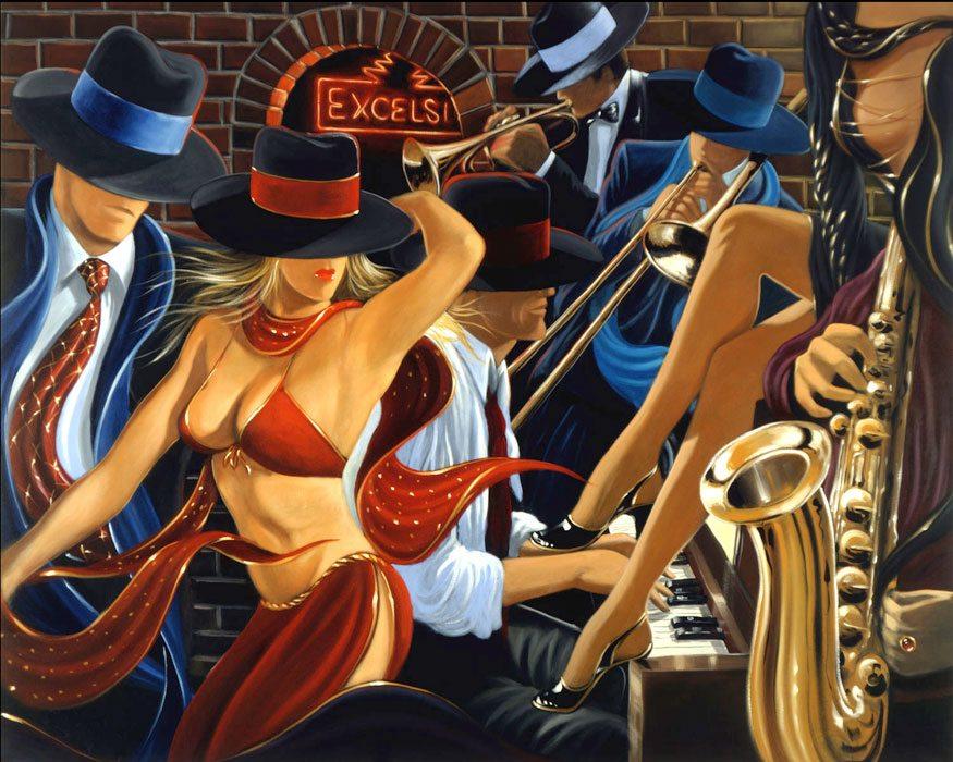 Speakeasy II | Victor Ostrovsky | Painting-Exposures International Gallery of Fine Art - Sedona AZ