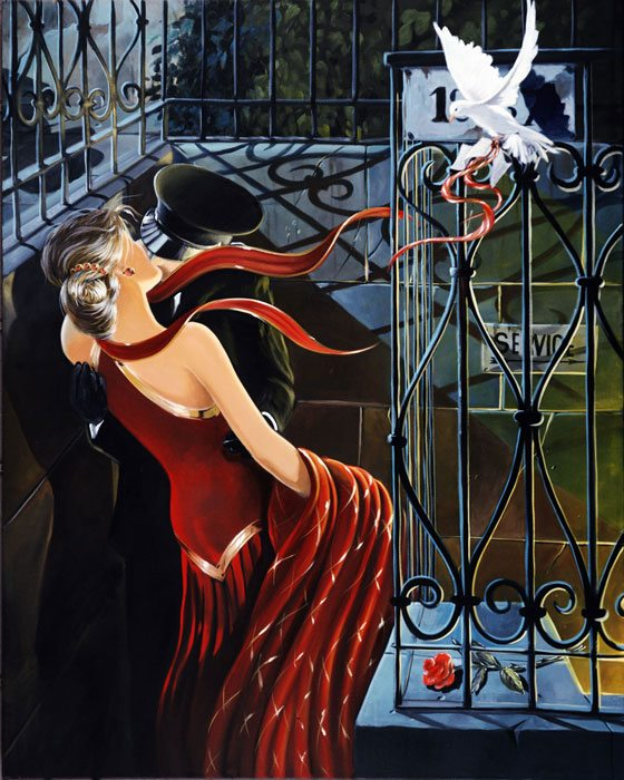 Upstairs Downstairs | Victor Ostrovsky | Painting-Exposures International Gallery of Fine Art - Sedona AZ