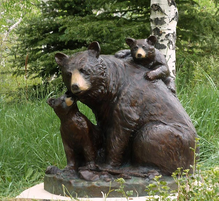 Bear Hugs | Scy Caroselli | Sculpture-Exposures International Gallery of Fine Art - Sedona AZ