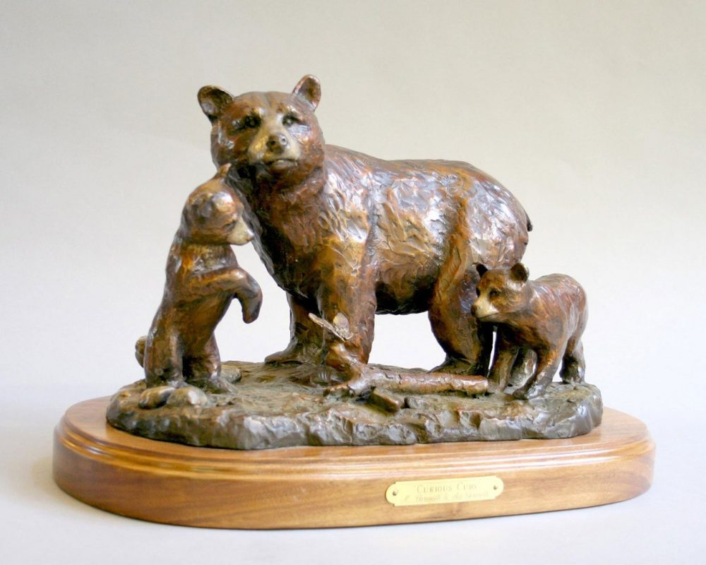 Curious Cubs | Scy Caroselli | Sculpture-Exposures International Gallery of Fine Art - Sedona AZ
