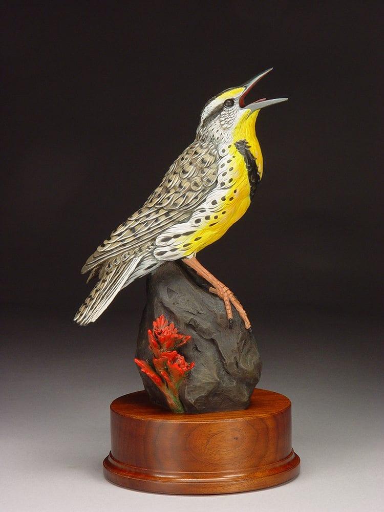 Meadowlark and Paintbrush | Joan Zygmunt | Sculpture-Exposures International Gallery of Fine Art - Sedona AZ