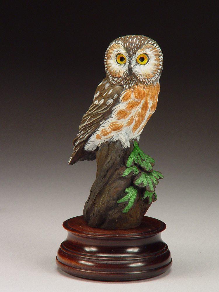 Saw-Whet Owl | Joan Zygmunt | Sculpture-Exposures International Gallery of Fine Art - Sedona AZ