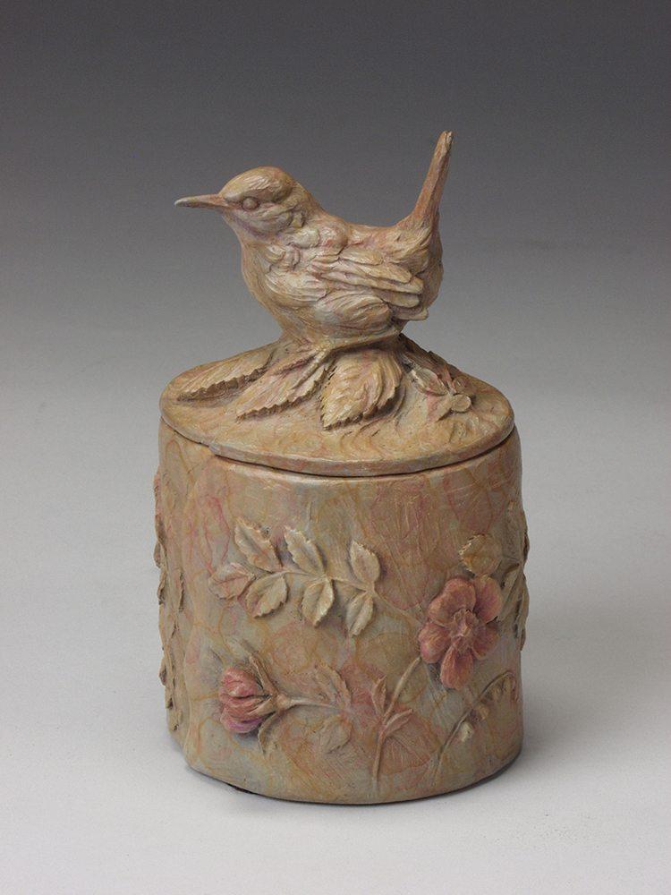 Secret Garden Wren Box | Joan Zygmunt | Sculpture-Exposures International Gallery of Fine Art - Sedona AZ