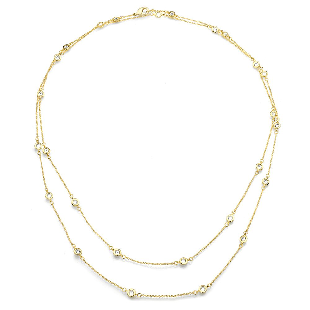 18 KGP 54 Inch 6-in-1 Floating Necklace | Bling By Wilkening | Jewelry-Exposures International Gallery of Fine Art - Sedona AZ
