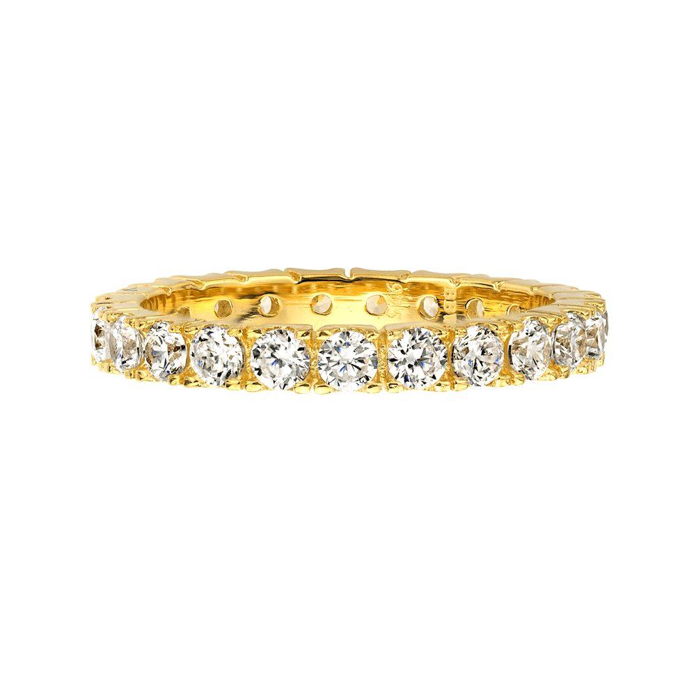 18 KGP 2.75mm Thin Round Eternity Ring Band | Bling By Wilkening | Jewelry-Exposures International Gallery of Fine Art - Sedona AZ