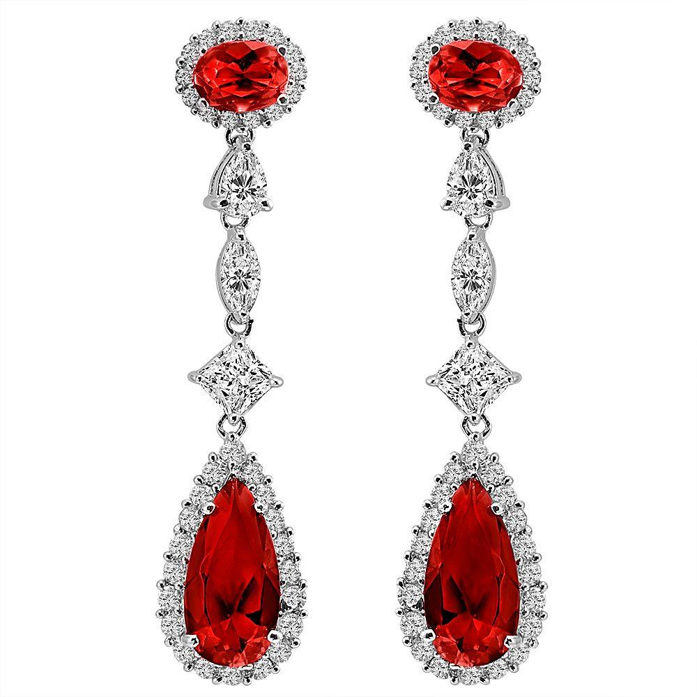 Silver Deep Crimson Regal Teardrops | Bling By Wilkening | Jewelry-Exposures International Gallery of Fine Art - Sedona AZ