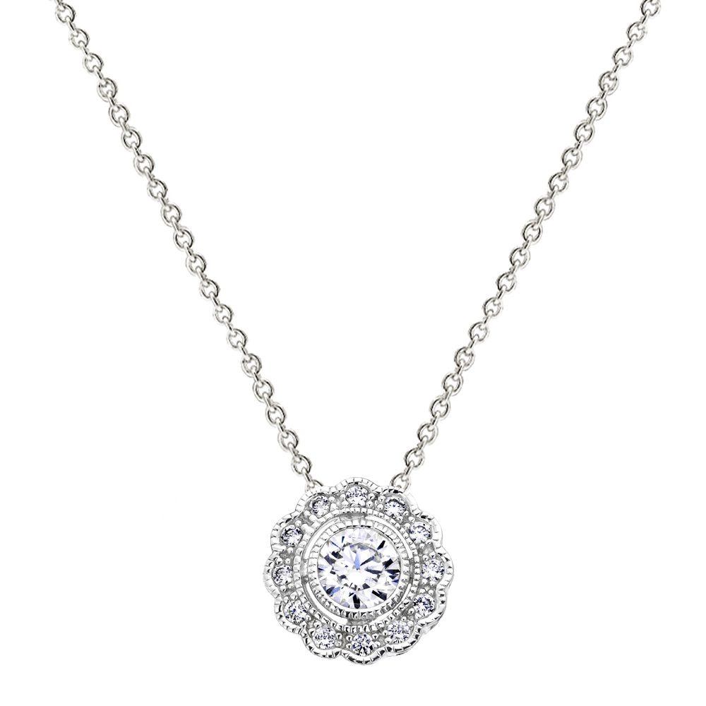 Sterling Silver Round Vintage Lace Necklace | Bling By Wilkening | Jewelry-Exposures International Gallery of Fine Art - Sedona AZ