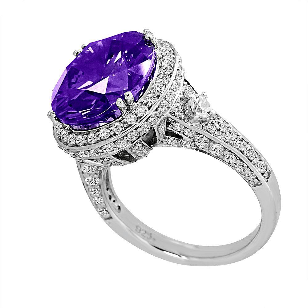 Sterling Silver 7 Carat Lavender Regal Crown Ring | Bling By Wilkening | Jewelry-Exposures International Gallery of Fine Art - Sedona AZ