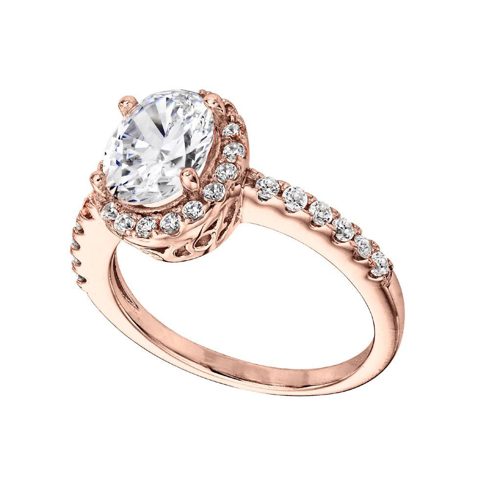 18 KGP Rose Gold 2.5 Carat Oval Ring | Bling By Wilkening | Jewelry-Exposures International Gallery of Fine Art - Sedona AZ
