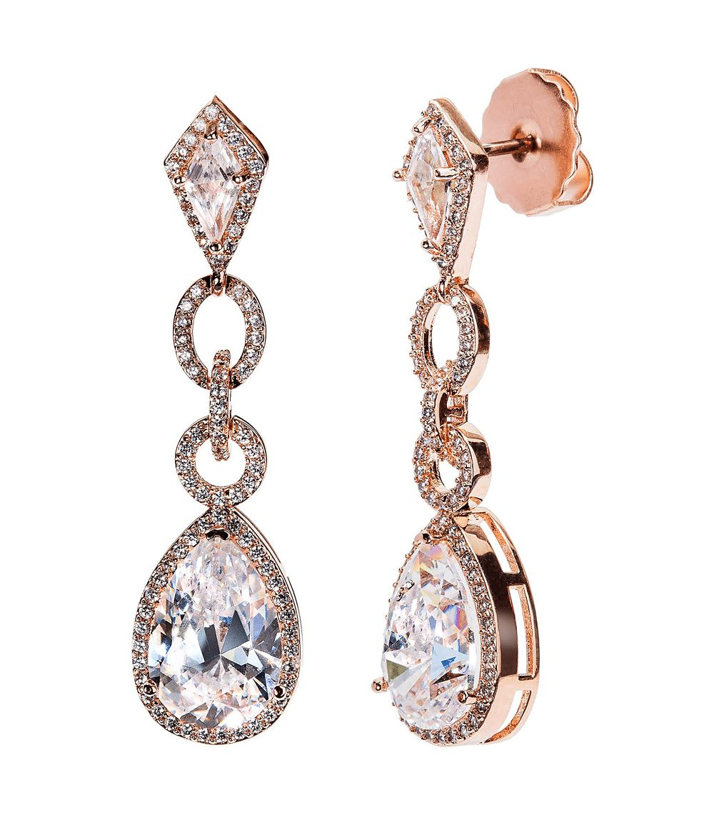 18 KGP Rose Gold Clear Royal Occasion Teardrops | Bling By Wilkening | Jewelry-Exposures International Gallery of Fine Art - Sedona AZ