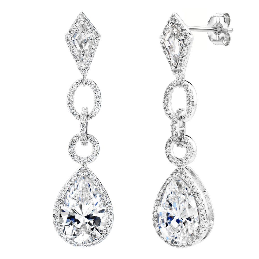 Silver Royal Occasion Teardrops | Bling By Wilkening | Jewelry-Exposures International Gallery of Fine Art - Sedona AZ