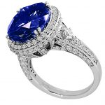 Sterling Silver 7 Carat Sapphire-Hued Crown Ring-Y10045-4.5