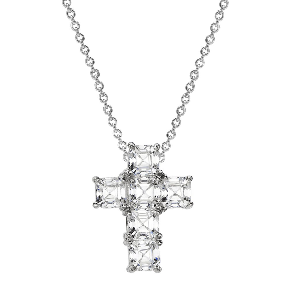 Sterling Silver Asscher Cut Canterbury Cross | Bling By Wilkening | Jewelry-Exposures International Gallery of Fine Art - Sedona AZ