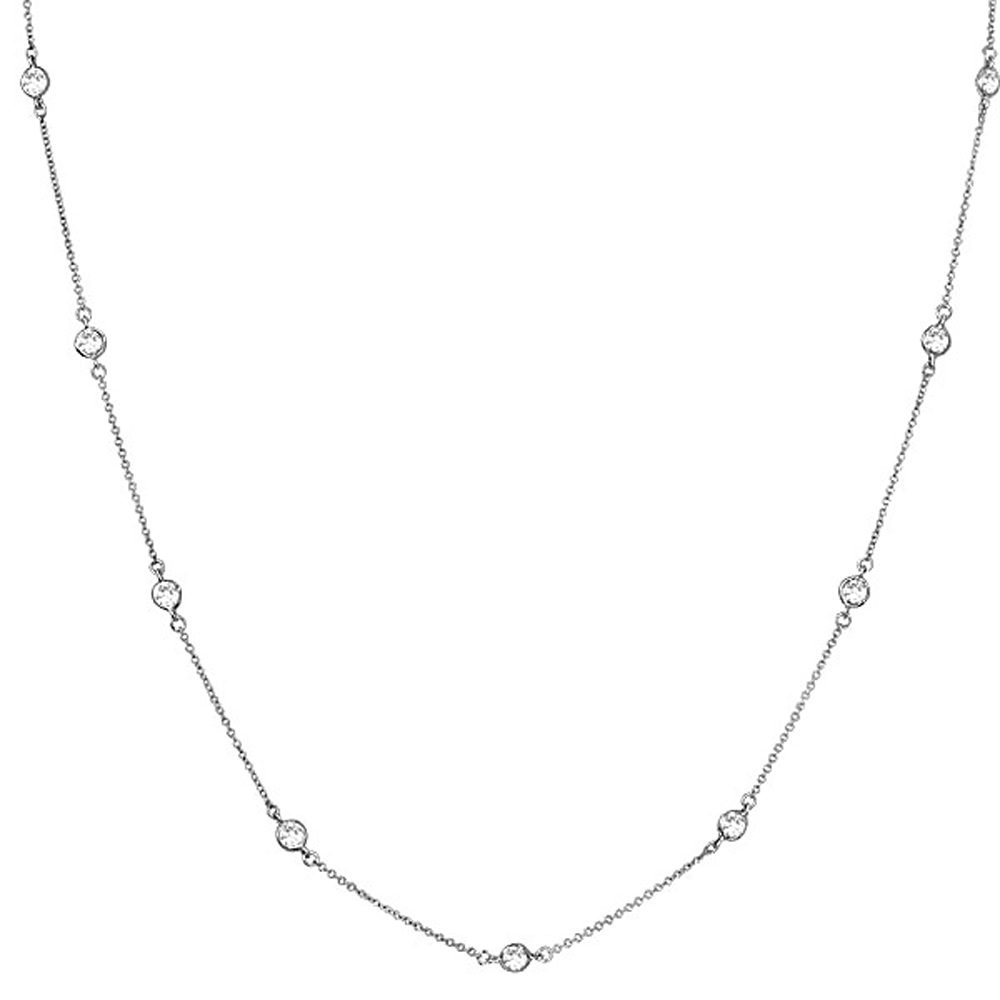 Sterling Silver Regal Short Floating Necklace 18"