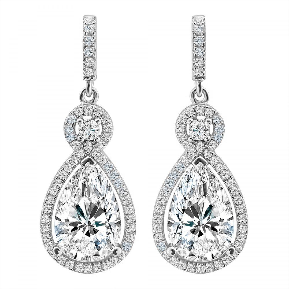 Silver Victorian Clear Teardrops | Bling By Wilkening | Jewelry-Exposures International Gallery of Fine Art - Sedona AZ