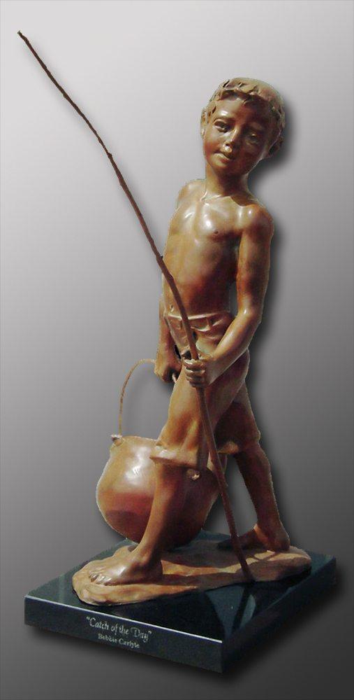 Catch of the Day | Bobbie Carlyle | sculpture-Exposures International Gallery of Fine Art - Sedona AZ