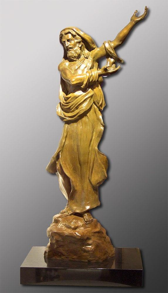 Christ in the Wilderness   Bobbie Carlyle   sculpture-Exposures International Gallery of Fine Art - Sedona AZ