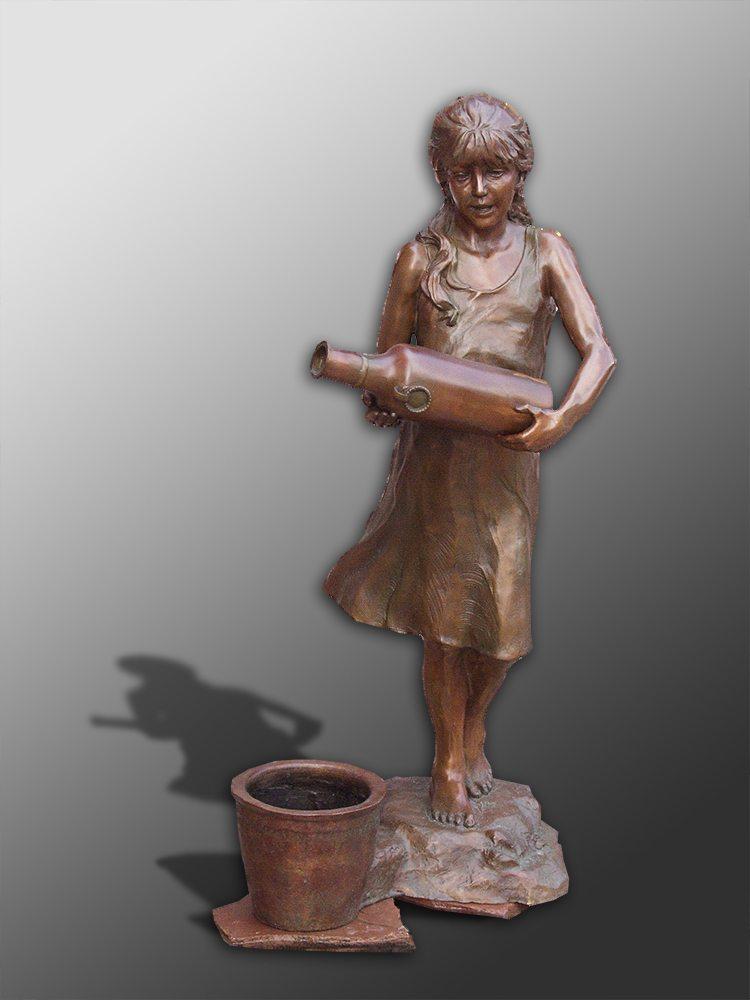 Flora Fountain   Bobbie Carlyle   sculpture-Exposures International Gallery of Fine Art - Sedona AZ