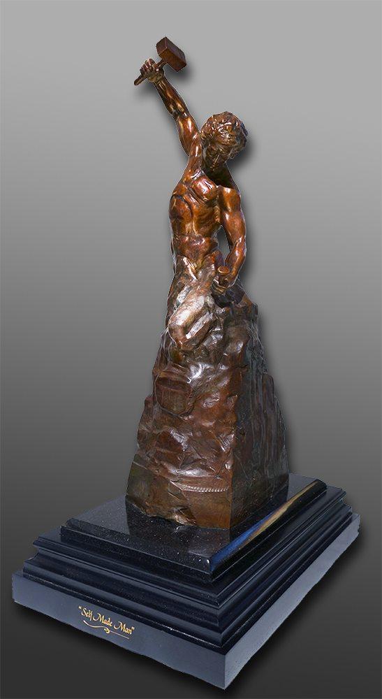 "Self Made Man - 24"" Tall   Bobbie Carlyle   sculpture-Exposures International Gallery of Fine Art - Sedona AZ"