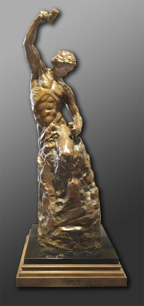 "Self Made Man - 32"" Tall | Bobbie Carlyle | sculpture-Exposures International Gallery of Fine Art - Sedona AZ"