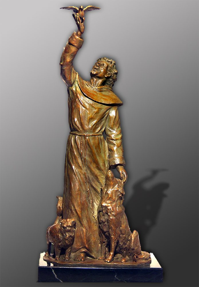 St. Francis of Assissi | Bobbie Carlyle | sculpture-Exposures International Gallery of Fine Art - Sedona AZ