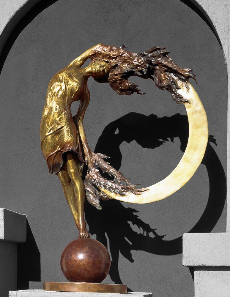 Sunriser II - 8' Tall Heroic Size | Bobbie Carlyle | sculpture-Exposures International Gallery of Fine Art - Sedona AZ