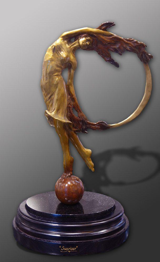 "Sunriser II - 16"" Tall | Bobbie Carlyle | sculpture-Exposures International Gallery of Fine Art - Sedona AZ"