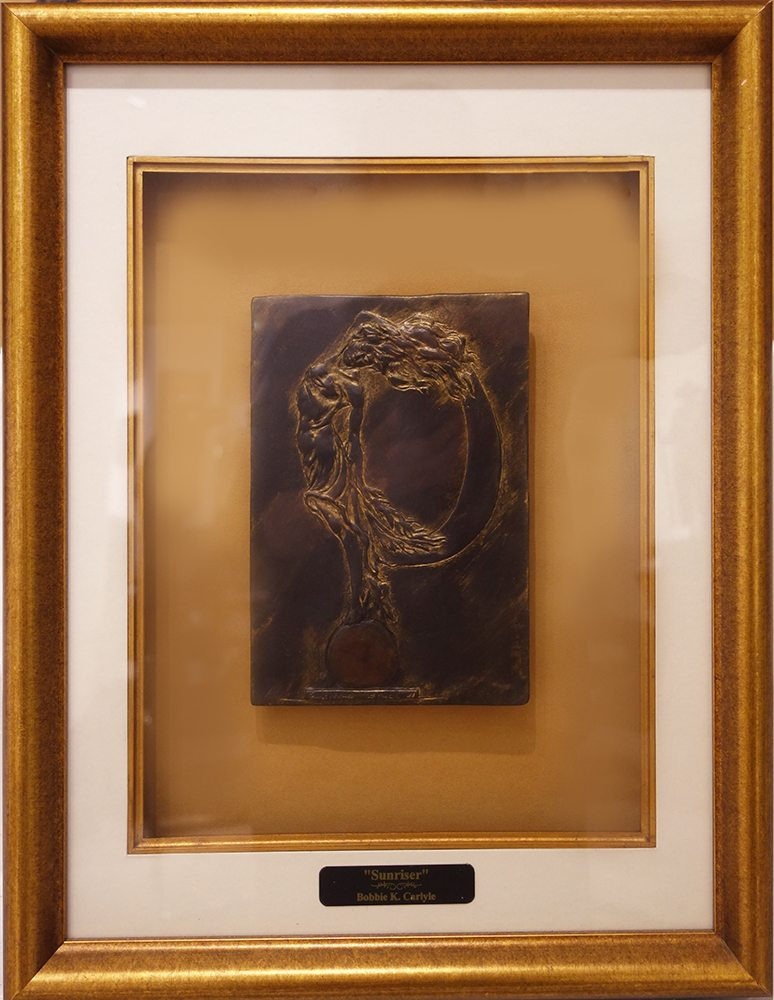 Sunriser II - Framed Relief | Bobbie Carlyle | sculpture-Exposures International Gallery of Fine Art - Sedona AZ