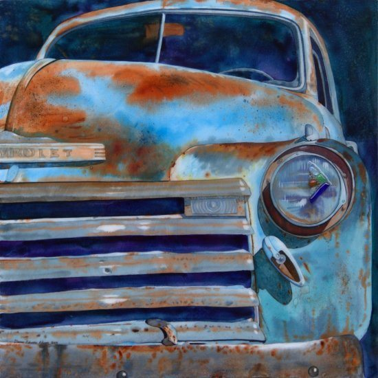Whatever Happened to the Old Chevy | Dianne Adams | Painting-Exposures International Gallery of Fine Art - Sedona AZ