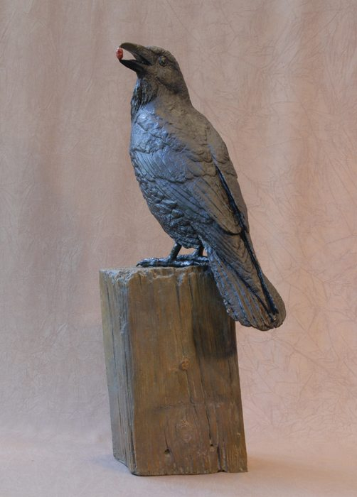 Raven II C | Jim Eppler | Sculpture-Exposures International Gallery of Fine Art - Sedona AZ